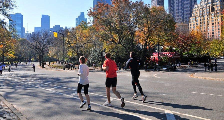 Coureurs à Central Park